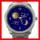 Celestial Heaven Moon Star Sun Silvertone Sports Metal Watch 065