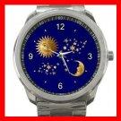 Celestial Heaven Moon Star Sun Silvertone Sports Metal Watch 065