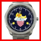 Yellow Rubber Duck Ducky Silvertone Sports Metal Watch 068