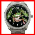 Red Eye Frog Froggy Silvertone Sports Metal Watch 076