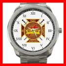 Masonic Knights Templar Silvertone Sports Metal Watch 080