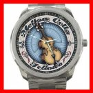 Mellow Cello Fellows Music Fan Silvertone Sports Metal Watch 085