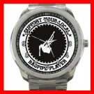 Support Bagpipe Player Music Fan Silvertone Sports Metal Watch 086