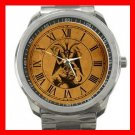 Baphomet Pagan Deity Knights Silvertone Sports Metal Watch 089
