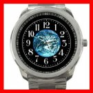 Earth Planet Solar System Silvertone Sports Metal Watch 099