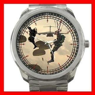Marine Corps Forces U.S. Army Silvertone Sports Metal Watch 101