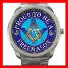 FREEMASONRY MASON MASONIC PRIDE Silvertone Sports Metal Watch 102