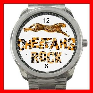 Cheetahs Rock Silvertone Sports Metal Watch 109