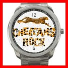 Cheetahs Rock Silvertone Sports Metal Watch 109