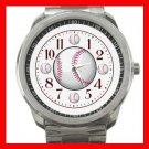 Baseball Balls Sports Game Silvertone Sports Metal Watch 112