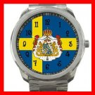 Swedish Flag Sweden Nation Patriotic Silvertone Sports Metal Watch 119