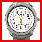 Funny Beer Drink Alcohol Liquor Silvertone Sports Metal Watch 121