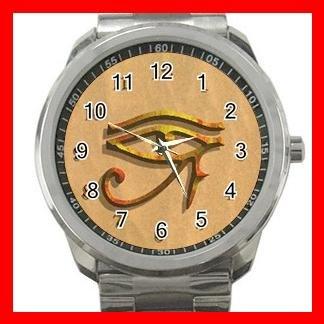 The Eye of Horus Hobby Silvertone Sports Metal Watch 128