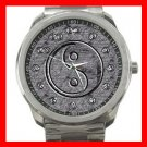 Silver Ying Yang Symbol Silvertone Sports Metal Watch 131