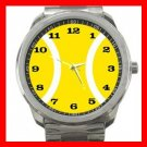 Tennis Ball Sports Game Silvertone Sports Metal Watch 132