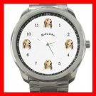 Saluki Dog Pet Puppy Animals Silvertone Sports Metal Watch 138