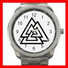Valknot Valknut Symbol Triangles Silvertone Sports Metal Watch 140