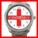 Denmark Flag Nation Patriotic Silvertone Sports Metal Watch 141