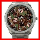 Skulls Skelecton Camo Army Fun Silvertone Sports Metal Watch 153