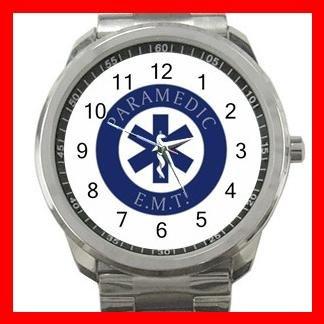 Emergency Paramedic EMT Silvertone Sports Metal Watch 154