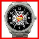 Black Knights Templar Masonic Silvertone Sports Metal Watch 158