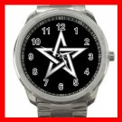 Wicca Pentagram Pentacle Star Witch Silvertone Sports Metal Watch 160