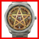 Wicca Pentagram Pentacle Star Silvertone Sports Metal Watch 161