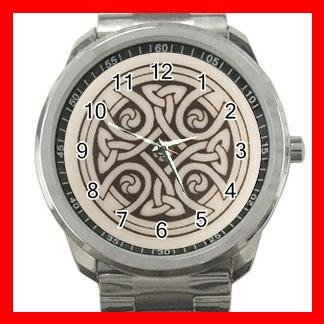 CELTIC CROSS Irish Cross Silvertone Sports Metal Watch 166