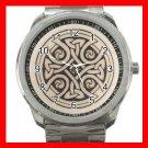 CELTIC CROSS Irish Cross Silvertone Sports Metal Watch 166