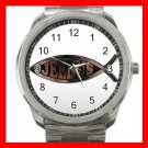 Christian Jesus Fish Silvertone Sports Metal Watch 167