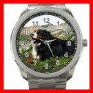 BERNESE MOUNTAIN DOG PET Silvertone Sports Metal Watch 172