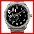 Gibson Les Paul Guitar Band Silvertone Sports Metal Watch 174