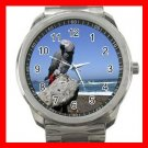 AFRICAN GREY PARROT BIRD PET Silvertone Sports Metal Watch 180