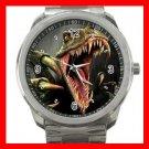 DINOSAUR T- REX Silvertone Sports Metal Watch 181