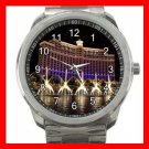 Las Vegas - BELLAGIO Fun Travel Silvertone Sports Metal Watch 183