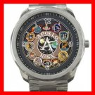 NASA APOLLO MEDALS Silvertone Sports Metal Watch 185