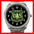 U.S. Forest Service, USFS Silvertone Sports Metal Watch 187