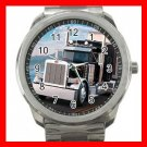 BLACK PETERBILT TRUCK Silvertone Sports Metal Watch 189