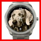 WEIMARANER GREY GHOST DOG PET Silvertone Sports Metal Watch 197