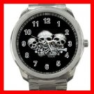 Rare Bones Family Skeletons Silvertone Sports Metal Watch 200