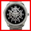 Rare Celtic Knot Cross Religion Silvertone Sports Metal Watch 201