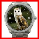 Barn Owl Bird Silvertone Sports Metal Watch 209