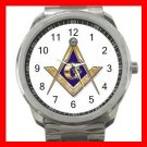 FREEMASONRY MASON Silvertone Sports Metal Watch 219
