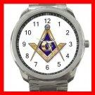FREEMASONRY MASON Silvertone Sports Metal Watch 219