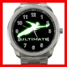 ULTIMATE FRISBEE Silvertone Sports Metal Watch 239