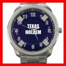TEXAS HOLDEM CHIPS CASINO Silvertone Sports Metal Watch 242
