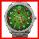 Green Ladybug Bugs Hobby Silvertone Sports Metal Watch 243