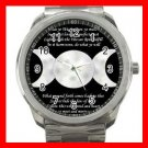 WICCA WITCH PAGAN MOONS Silvertone Sports Metal Watch 252