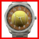 Tennis Ball Against a Racquet Silvertone Sports Metal Watch 253