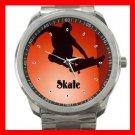 Skate Skateboard Game Fun Silvertone Sports Metal Watch 255